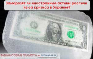 Заморозят ли иностранные активы россиян из-за кризиса в Украине?